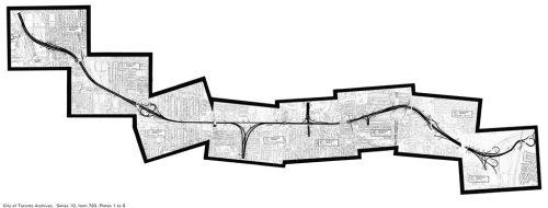 Plan of proposed Crosstown Expressway