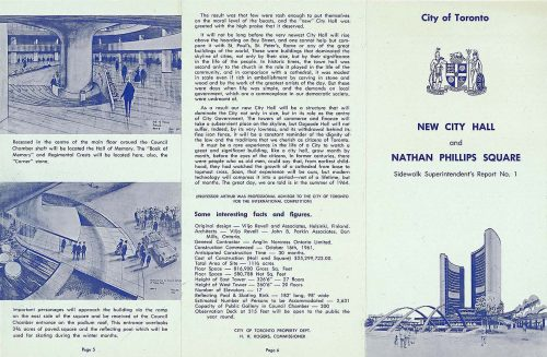 Page 1 of pamphlet on construction of New City Hall