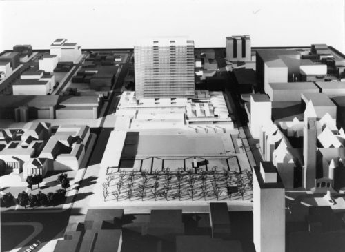 Model of rectangular highrise building