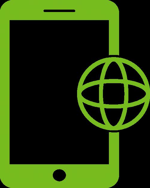 Icon representing mobile tech