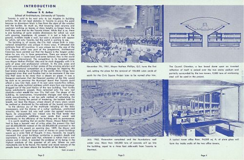 Page 2 of pamphlet on construction of New City Hall