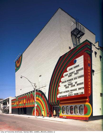 Balmuto Street exterior, Uptown Theatre, ca. 1970