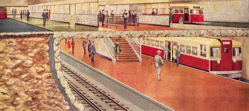 Artist's rendition of planned Eglinton Station