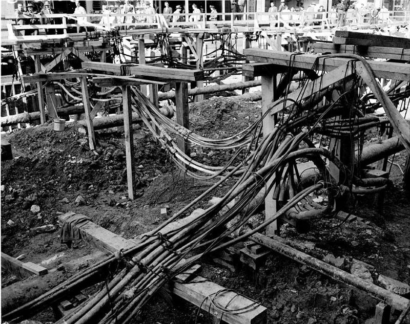 Utility Pipes And Cables : Canada s first subway underground downtown city of toronto
