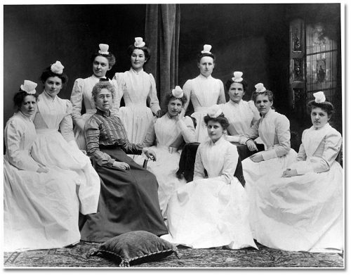 Class photograph with Mary Agnes Sniveley ca. 1895