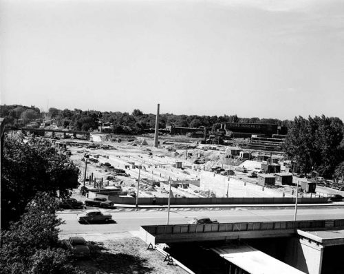 Davisville station and yard under construction