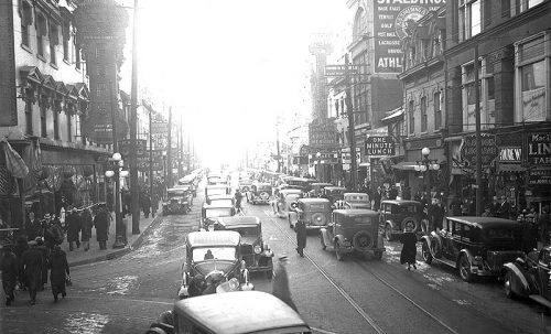 Traffic congestion on Yonge Street