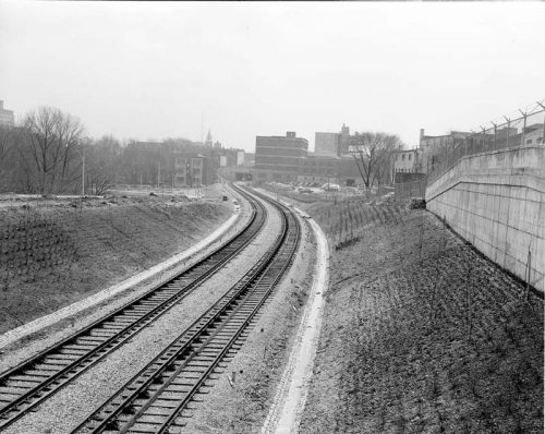 Looking south from Rosedale station