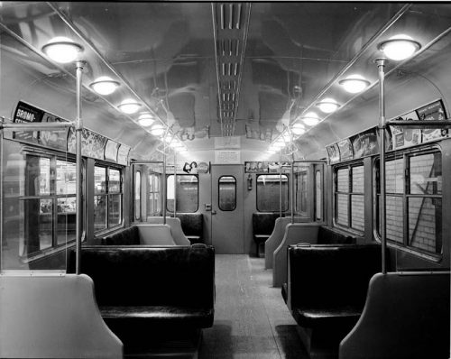 Interior of subway car