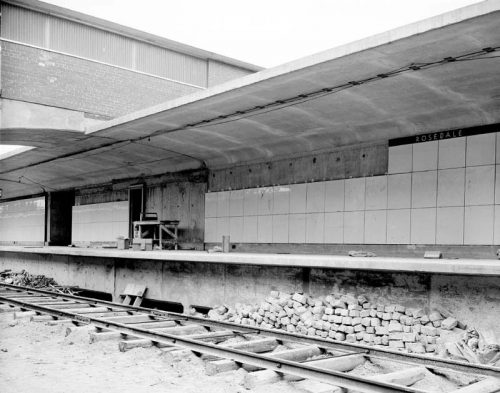 Rosedale station under construction