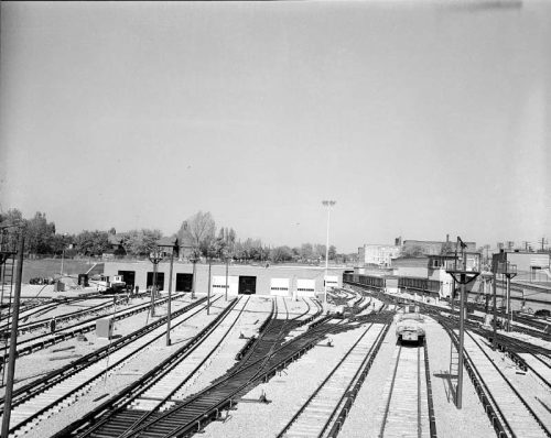 Davisville yard, looking north