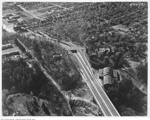 Aerial view of completed Bayview Bridge