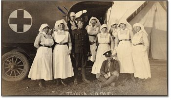 Polish Camp, Niagara on the Lake, Miss Janet Clark, Class of 1910 (back row left) ca. 1914