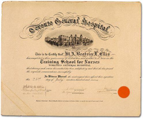 Graduate Nurse's Diploma 1907