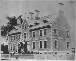 Boys' Home, east side of George Street 1868 (before flanked additions).