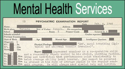 Mental Health Services.