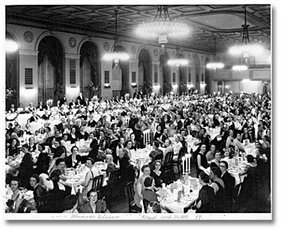 Toronto General Hospital School for Nursing, 25th Anniversary Dinner, Royal York Hotel September 1938