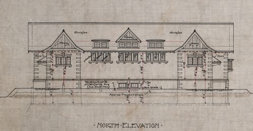 Blueprint of Public lavatory, Danforth Ave & Winchester Dr., 1919
