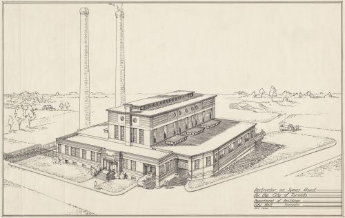 Sketch of Destructor, Symes Road, 1932