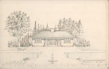 Sketch of Proposed Shelter, Monarch Park, 1922