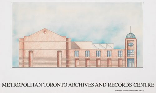 Sketch of Metropolitan Toronto Archives & Record Centre,
