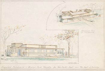 Sketch of Proposed Field House, Grange Park, 1933
