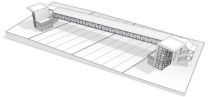 Graphic of approved design for bridge
