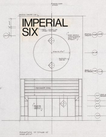 Sketch of alterations to Imperial Theatre, Yonge St., 1973, Architect Mandel C. Sprachman
