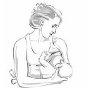 woman using cross candle hold to breastfeed baby