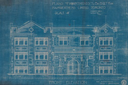 Blueprint of Apartment house, 610-614 Ontario St., 1912