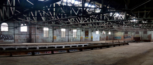 Inside view of Wellington Destructor, showcasing the industrial architecture