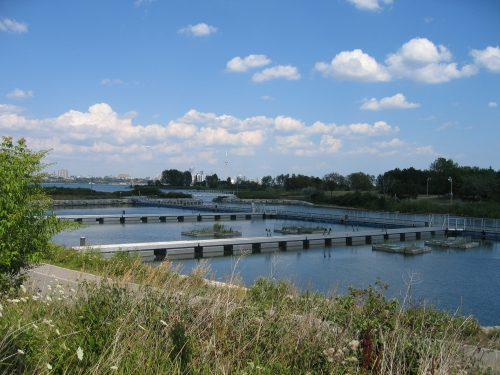 Humber Bay wet pond featuring a flow balancing system