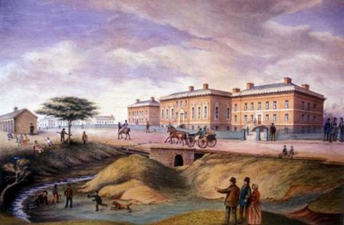 Painting of Third Parliament Buildings, 1834