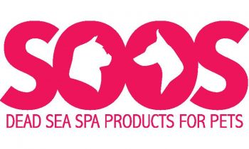 logo for dead sea products for pets that says soos