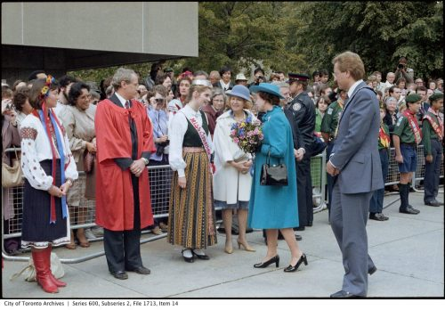 The Queen with Mayor Art Eggleton at Nathan Phillips Square