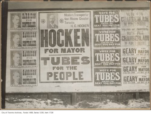 Tubes for the People, Mayoral election broadside for candidate Horatio Hocken