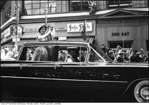 The Queen and Prince Philip on Bay Street