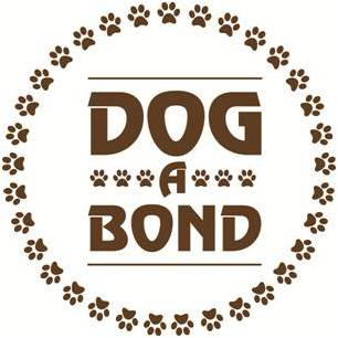 logo for dog a bond with illustrated paw prints