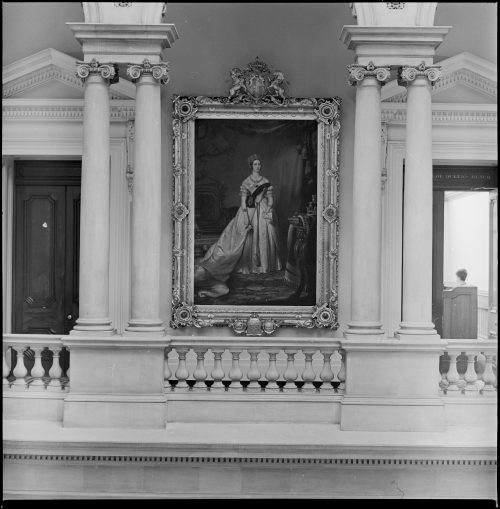 Portrait of Queen Victoria inside Osgoode Hall