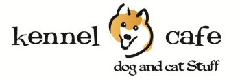 logo for kennel cafe that says dog and cat stuff