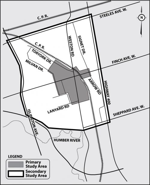 Emery Village Transportation Master Plan Study Area Map