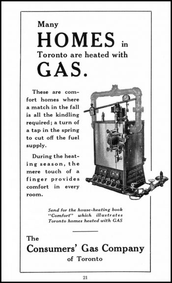 Ad for heading homes with gas