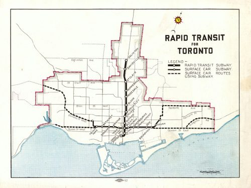 Map of proposed subway