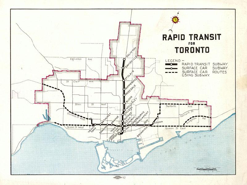 Subway Map Canada Toronto.Canada S First Subway Why A Subway City Of Toronto