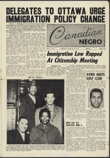 Page from the Canadian Negro, April-May 1954