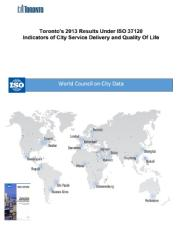 Cover of Toronto's 2013 Results Under ISO 37120