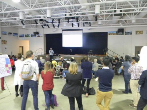 Photo of the audience watching a presentation at the September 28, 2017 public meeting.
