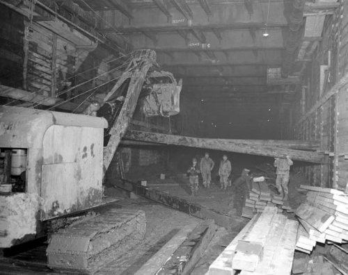Excavation under Shuter Street March 17, 1950