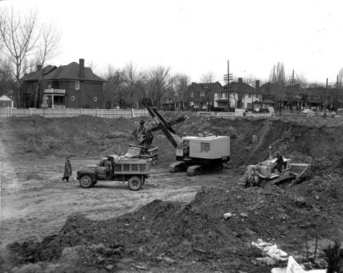 Excavation near Davisville and Summerhille Stations