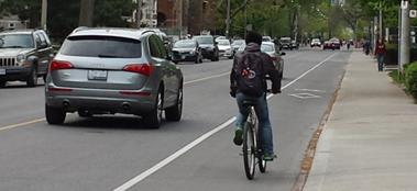 Example of a bike lane